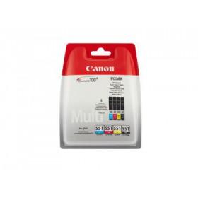 Canon CLI-551 - Δοχείο Μελανιού - Κυανό/Μαύρο/Κίτρινο/Μαύρο 6509B009AA