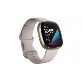 FITBIT Sense Smartwatch - Λευκό / Χρυσό FB512GLWT