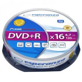 ESPERANZA DVD+R 4,7GBX16 CAKE BOX 10PCS 5905784763323