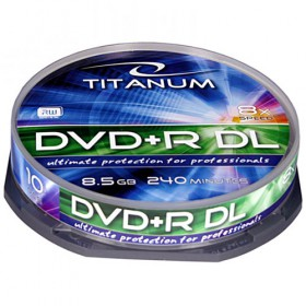 ESPERANZA DVD+R TITANIUM 8,5GBX8 DL CAKE BOX 10PCS 5905784765266