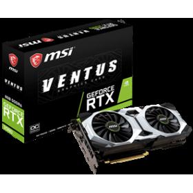 MSI VGA PCI-E NVIDIA GF RTX 2080 VENTUS 8G OC, 8GB/256BIT, GDDR6, HDMI/3x DISPLAY PORT/ USB-C, 2 SLOT FANSINK, 3YW.