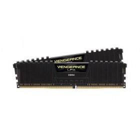 CORSAIR RAM DIMM XMS4 KIT 2x4GB CMK8GX4M2B3000C15, DDR4, 3000MHz, LATENCY 15-17-17-35, 1.35V, VENGEANCE LPX BLACK, XMP 2.0, BLACK, LTW.