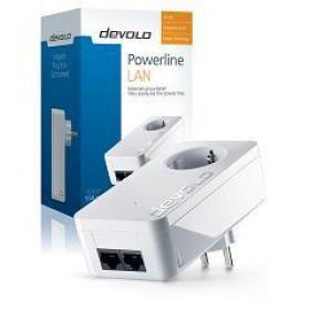 DEVOLO POWERLINE dLAN 550 DUO+ SINGLE (9296), 1x dLAN 550 DUO+ ADAPTER, dLAN 550Mbps, SHUKO, AC POWER OUT SOCKET, 3YW.