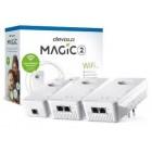 DEVOLO POWERLINE MAGIC 2 WIFI 2-1-3 EU MULTIROOM KIT (8398), 1x MAGIC 2 LAN ADAPTER & 2x MAGIC 2 WiFi (WIRELESS) ADAPTER, 2400Mbps, SHUKO, AC POWER OUT SOCKET, 3YW.