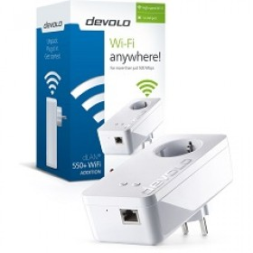 DEVOLO POWERLINE dLAN 550+ WiFi SINGLE (9832), dLAN 550+ WiFi (WIRELESS) ADAPTER, 3YW.