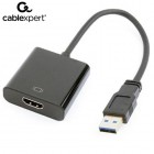 CABLEXPERT USB 3,0 TO HDMI DISPLAY ADAPTER BLACK 8716309099141