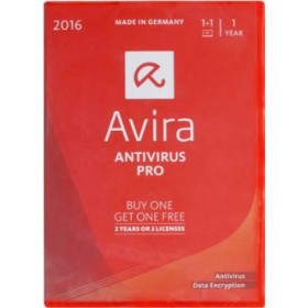 AVIRA ANTIVIRUS PRO 2016, 2 DEVICES FOR 1 YR OR 1 DEVICE FOR 2 YRS (2 INDIVIDUAL LICENCES), BOX.