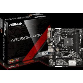 ASROCK MB AB350M-HDV, SOCKET AMD AM4, CS AMD B350, 2 DIMM SOCKETS DDR4, DSUB/DVI-D/HDMI, LAN GIGABIT, MICRO-ATX, 3YW.