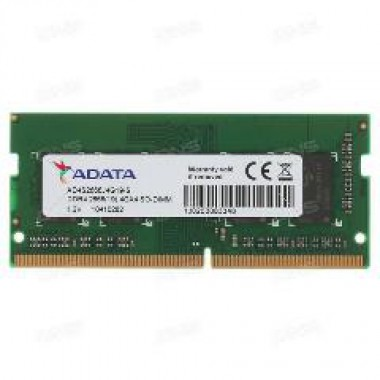 ADATA RAM SODIMM 4GB AD4S2666J4G19-S, DDR4, 2666MHz, 512x16, CL19, SINGLE TRAY, LTW