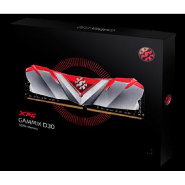 ADATA RAM DIMM 16GB AX4U3000316G16A-SR30, DDR4, 3000MHz, LATENCY 16-20-20, GAMMIX D30 RED, RETAIL, LTW.