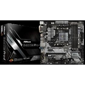 ASROCK MB B450M PRO4, SOCKET AMD AM4, CS AMD B450, 4 DIMM SOCKETS DDR4, D-SUB/DVI-D/HDMI, LAN GIGABIT, MICRO-ATX, 2YW.