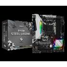 ASROCK MB B450M STEEL LEGEND, SOCKET AMD AM4, CS AMD B450, 4 DIMM SOCKETS DDR4, HDMI/DISPLAY PORT, LAN GIGABIT, MICRO-ATX, 3YW.