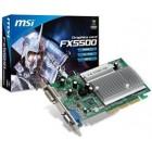 MSI VGA AGP NVIDIA FX5500 (FX5500-D256H), 256MB/128BIT, DDR, 15PIN DSUB/DVI-I, HEATSINK, 3YW.