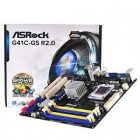 ASROCK MB G41C-GS R2.0, SOCKET INTEL LGA775, CS INTEL G41 & ICH7, 2 DIMM SOCKETS DDR3 & 2 DIMM SOCKETS DDR2, VGA INTEL GMA X4500 SHARED MEM, LAN GB, MICRO-ATX, 2YW.