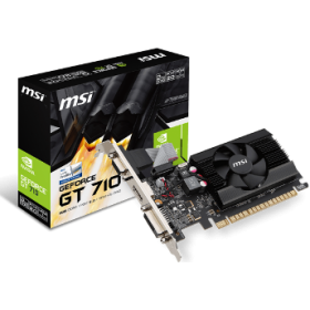 MSI VGA PCI-E NVIDIA GF GT 710 (GT710-2GD3LP), 2GB/64BIT DDR3, 15PIN DSUB/DL DVI-D/HDMI, 1 SLOT HEATSINK, 3YW.