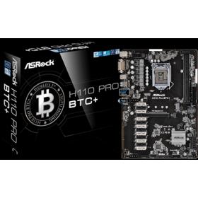 ASROCK MB H110 PRO BTC+, SOCKET INTEL LGA1151 6th/7th GEN, CS INTEL H110, 2 DIMM SOCKETS DDR4, DVI-D, LAN GIGABIT, ATX, 3YW.