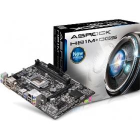 ASROCK MB H81M-DGS R2.0, SOCKET INTEL LGA1150, CS INTEL H81, 2 D