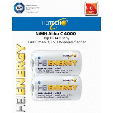 HEITECH RECHARGEABLE BATTERY HR14/BABY/C 4000mAh 2PCS 4250040921889