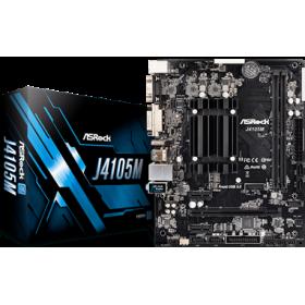 ASROCK MB J4105M, ON BOARD CPU INTEL CELERON QUAD CORE J4105, 2 DIMM SOCKETS DDR4, DSUB/DVI-D/HDMI, LAN GIGABIT, MICRO-ATX, 2YW.