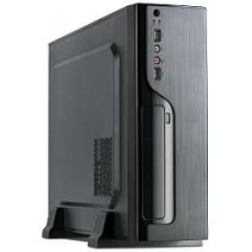 SUPERCASE PC CHASSIS MA07, MINI TOWER ATX, BLACK, PSU 300W, 1x8CM REAR FAN, 2YW.