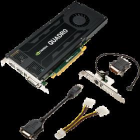 PNY VGA PCI-E NVIDIA QUADRO K4200 (VCQK4200-PB), 4GB/256BIT, GDDR5, DL DVI-I/2xDISPLAY PORT, ULTRA QUIET FANSINK, 3YW.