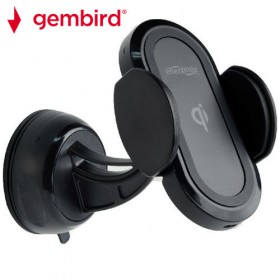 GEMBIRD CAR SMARTPHONE HOLDER WITH DETACHABLE FAST WIRELESS QI CHARGER 8716309102650