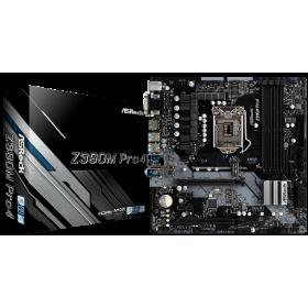 ASROCK MB Z390M PRO4, SOCKET INTEL LGA1151 8th/9th GEN, CS INTEL Z390, 4 DIMM SOCKETS DDR4, D-SUB/DVI-D/HDMI, LAN GIGABIT, MICRO-ATX, 3YW.