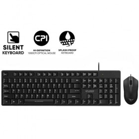 ALCATROZ USB WIRED SILENT COMBO KEYBOARD AND MOUSE XPLORER C3300 8886411967529