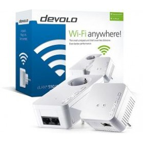 DEVOLO POWERLINE dLAN 550 WiFi STARTER KIT (9638), 1x dLAN 550 WiFi (WIRELESS) ADAPTER & 1x dLAN 550 DUO+ ADAPTER, dLAN 550Mbps, 3YW.