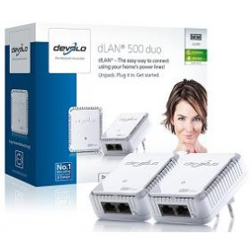 DEVOLO POWERLINE dLAN 500 DUO STARTER KIT, 2x dLAN 500 DUO ADAPT