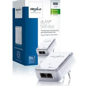 DEVOLO POWERLINE dLAN 500 DUO SINGLE, 1x dLAN 500 DUO ADAPTER, d