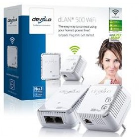 DEVOLO POWERLINE dLAN 500 WiFi STARTER KIT, 1x dLAN 500 AV WiFi