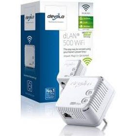 DEVOLO POWERLINE dLAN 500 WiFi SINGLE, 1x dLAN 500 WiFi ADAPTER,