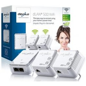 DEVOLO POWERLINE dLAN 500 WiFi NETWORK KIT, 2x dLAN 500 WiFi (WI
