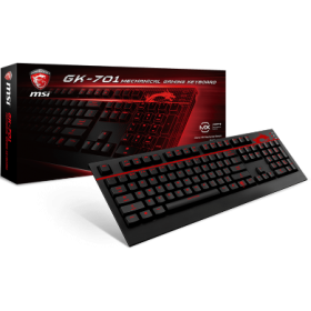MSI KEYBOARD GAMING GK-701, CHERRY MX BROWN MECHANICAL, RED COLOR BACKLIT, USB, WIRED, 2YW.