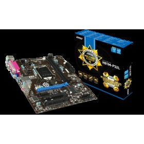 MSI MB H81M-P32L, SOCKET INTEL LGA1150, CS INTEL H81 EXPRESS, 2 DIMM SOCKETS DDR3, VGA (GPU INTO CPU), LAN GIGABIT, MICRO-ATX, 3YW.
