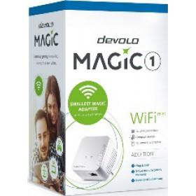 DEVOLO POWERLINE MAGIC 1 MINI EU SINGLE (8559), 1x MAGIC 1 WiFi Mini (WIRELESS) ADAPTER, 1200Mbps, SHUKO, AC POWER OUT SOCKET, 3YW.