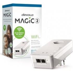 DEVOLO POWERLINE MAGIC 2 WIFI 2-1-1 EU SINGLE (8382), 1x MAGIC 2 WiFi (WIRELESS) ADAPTER, 2400Mbps, SHUKO, AC POWER OUT SOCKET, 3YW.
