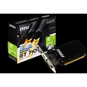 MSI VGA PCI-E NVIDIA GF GT710 (GT710-1GD3HLP), 1GB/64BIT DDR3, 15PIN DSUB/DL DVI-D/HDMI, 1 SLOT HEATSINK, 3YW.