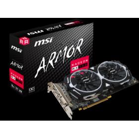 MSI VGA PCI-E RADEON RX 580 ARMOR 8G OC, 8GB/256BIT, GDDR5, DL DVI-D/2xHDMI/2x DISPLAY PORT, 2 SLOT FANSINK, 3YW.