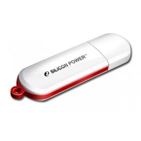SILICON POWER FLASH USB DRIVE 16GB, LUXMINI 320, USB2.0, WHITE,