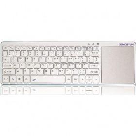 Ασύρματο bluetooth πληκτρολόγιο με μεγάλο touchpad CONCECPTUM ELECTRONICS KBW01WBT σε Λευκό μπλέ