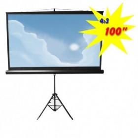 Οθόνη προβολής με τρίποδο Brateck PSDC100 100'' 4:3