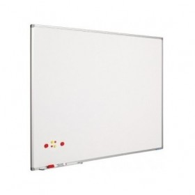 Ασπροπίνακας SMIT-VISUAL μαρκαδόρου, Σμάλτου - Μαγνητικός με πλαίσιο αλουμινίου (coated steel) - 120x240 cm