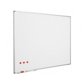 Ασπροπίνακας SMIT-VISUAL μαρκαδόρου, Πορσελάνης - ΜΑΤ - Μαγνητικός με πλαίσιο αλουμινίου (enamel steel) - (5:2) - 120x300 cm