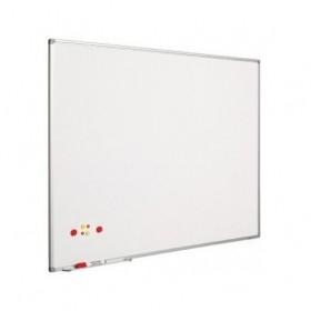 Ασπροπίνακας SMIT-VISUAL μαρκαδόρου, Πορσελάνης - ΜΑΤ - Μαγνητικός με πλαίσιο αλουμινίου (enamel steel) - 90x120 cm