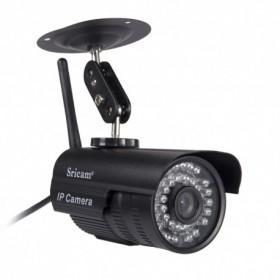 Sricam IP Camera SP013 - Εξωτερική ΑΔΙΑΒΡΟΧΗ Κάμερα Παρακολούθησης - 720p HD - WIFI - Πολλαπλοί χρήστες - ΜΑΥΡΟ