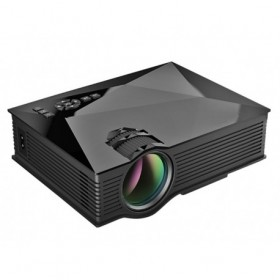 Mini projector UC46 - ΜΑΥΡΟ - 1200lumens - Led projector - Home theater projector - wifi projector - AIRPLAY - DLNA