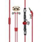 Promate Vogue-3 Μοδάτα Στερεοφωνικά Ακουστικά Ψείρες με Ενσωματωμένο Μικρόφωνο –Βραχιόλι με Χάντρες  - Κόκκινα
