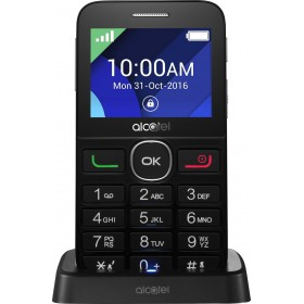 "ALCATEL OT 2008G 2.4"" FULL BLACK (ΜΕΓΑΛΑ ΠΛΗΚΤΡΑ)EU BRANDED"